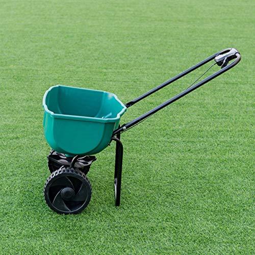 Garden Seeder Push Walk Behind Fertilizer Broadcast Spreader by Apontus