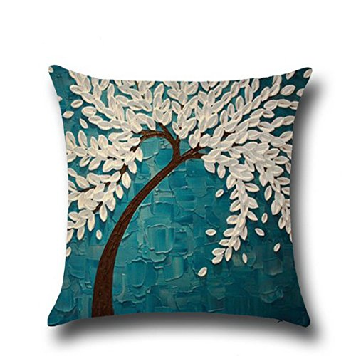 Hoomall Painting Cushion Decorative Flowers