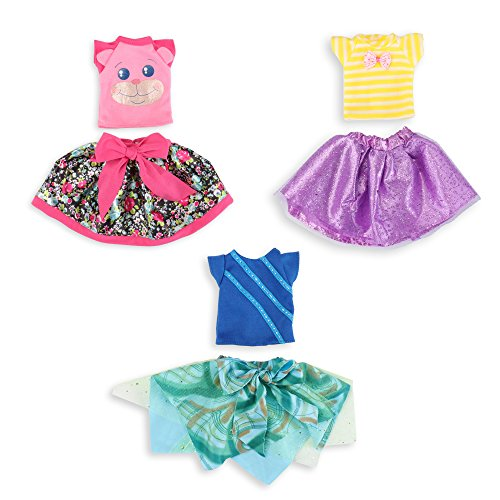 WakaoFeeling 14.5 inch Doll Clothes Outfits Accessories for Wellie Wishers Doll (Set of 3)