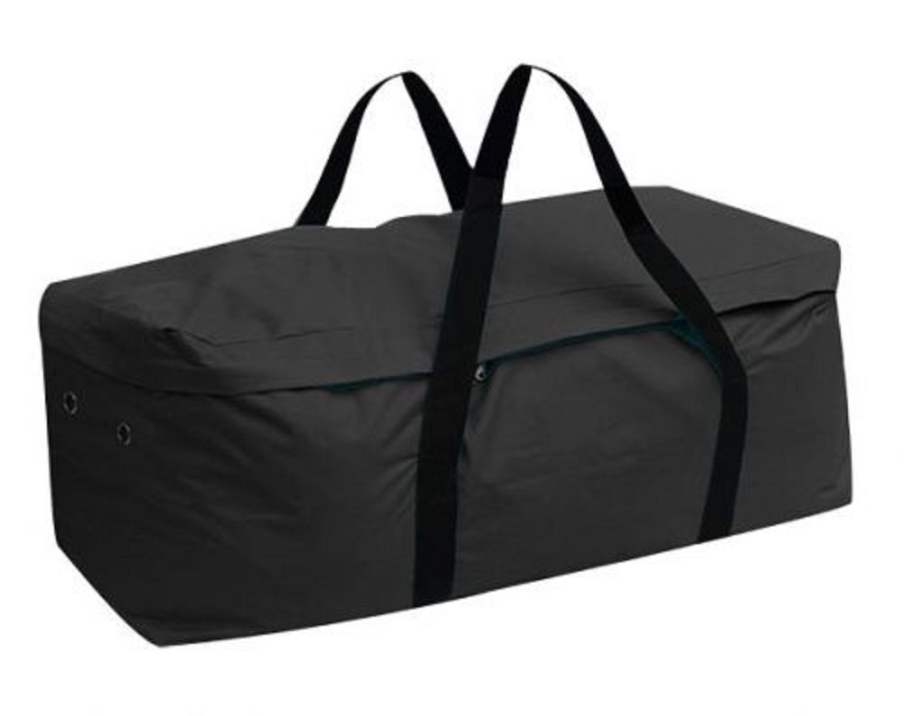 Showman BLACK Water Resistant Average 39'' Long Hay Bale Bag Nylon Carrier
