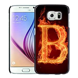 New Personalized Custom Designed For Samsung Galaxy S6 Phone Case For Burning Letter B Phone Case Cover