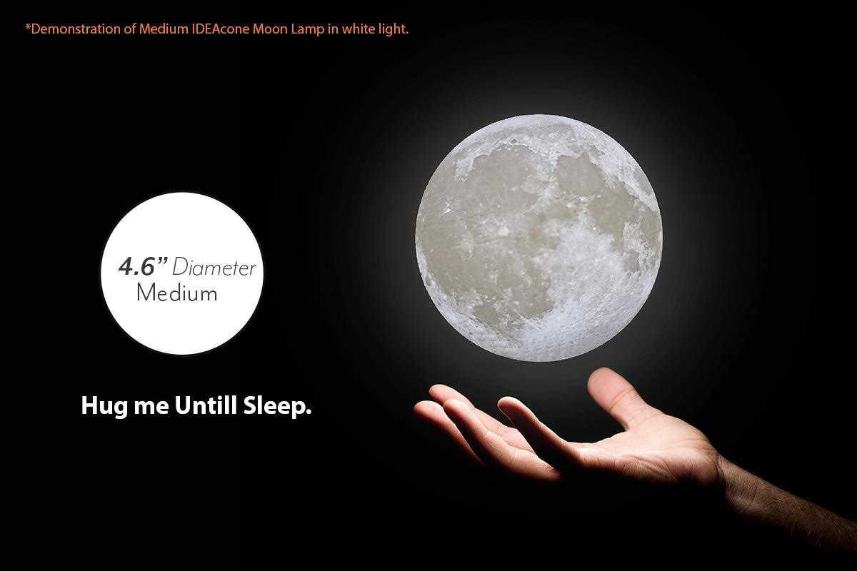 Luna Light Lampen : Amazon ideacone moon lamp d printing luna light decorative