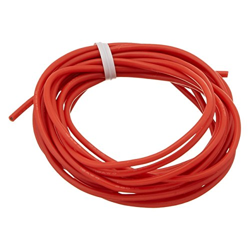 Silicone Wire - TOOGOO(R) 3Meter Spare Part 18AWG High Temperature Resistant Red Silicone - Glasses Spare Parts For