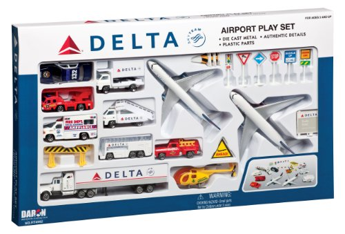 Delta 25pc. Airport Play Set - Toy Airport