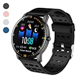 LEKOO Fitness Tracker – Activity Tracker with Step Counter – Waterproof SmartWatch with Heart Rate Monitor – Fit Watch Sleep Monitor Step Counter for Android & iPhone