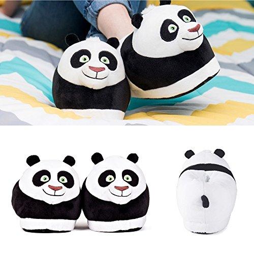Sleeper'z Hausschuhe Po aus Kung Fu Panda Film - Rutschfeste Plüsch Tierhausschuhe