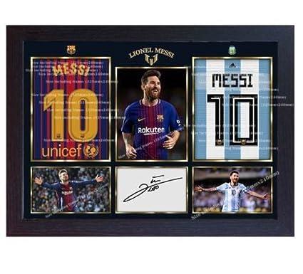 Amazon.com: S&E DESING Lionel Messi Argentina autógrafo ...