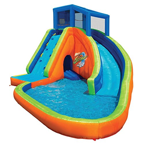 Lagoon Inflatable - Outdoor Pool Water Park Sidewinder Falls With Slides And Cannons Slide Holiday Inflatables Splash Lagoon Inflation Toys For Kids - House Deals