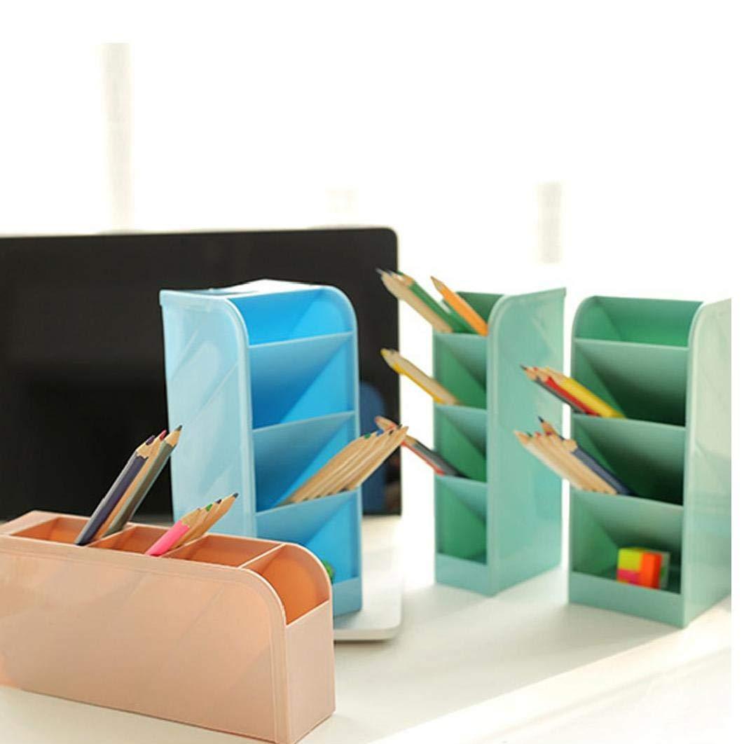 1pcs Tabella Storage Box 4-Grid Scuola Portapenne Banco Organizzatore Di Cancelleria Della Scuola Verticale Di Archiviazione Per Studenti Professori S Rosa
