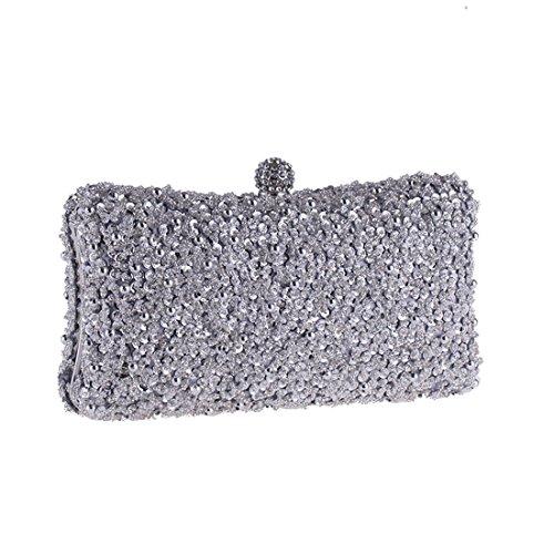 borsa perline Silver borsa borsa Black festa borsa Color di borsa della della della della nuziale della Borsa frizione della della Hungrybubble xOqF44