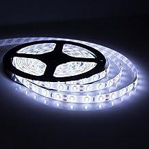 Mingus Waterproof 5630 LED Tape 5M/300LEDs 60LEDs Per Meter Cool White Led Strip Ideal For Gardens, Homes, Kitchen, Under Cabinet, Aquariums, Cars, Bar, Moon, DIY Party Decoration Lighting