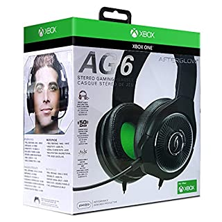 PDP Xbox One Afterglow AG 6 Wired Gaming Headset, 048-103-NA-BK