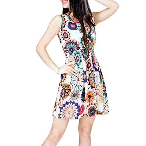 lookatool-1pc-women-summer-sunflower-beach-mini-dress-m
