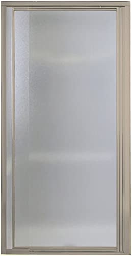 STERLING 1505D-42N-G10 Shower Door Pivot II 65-1 2 H x 36 – 42 W Pebbled Glass Nickel