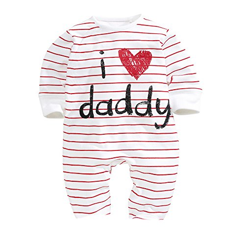 AOMOMO-Unisex-Baby-Newborn-I-Love-Mummy-I-Love-Daddy-Bodysuit-2-Pack