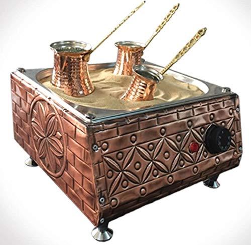 Handicraft Copper Sand Coffee Machine + 3 Coffee Pots + 100gr Turkish Coffee