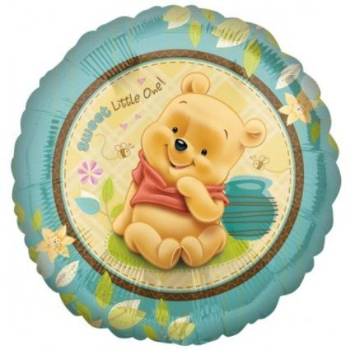 Party Destination 190390 Pooh Sweet Little One Foil Balloon by Mayflower Products ()