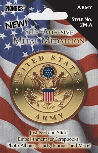 Pioneer? The Amazing Self-Adhesive Metal Military Medallion Army (EA) x Quantity of 1 by Pioneer Photo Albums