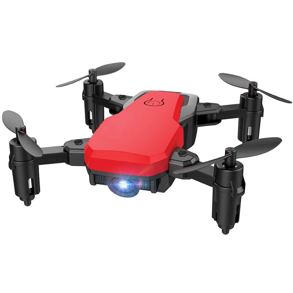 LHJCN Drohne,Quadrocopter mit 1080P Kamera Dual GPS Live Übertragung WiFi FPV RC Bürstenloser Motor Weißwinkel Follow Me Höhe-Halten Headless Modus für Actionkamera, Anfänger und Experte rot