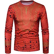 Boomboom Men Shirts, 2018 Newest Men Casual African Style T-Shirt Blouse