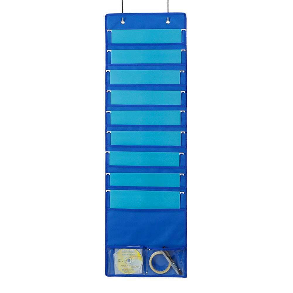 Archivadores colgantes de pared de almacenamiento de bolsillo gráfico para oficina Archivador soporte organizador de pared en cascada con 9 bolsillos casa ...