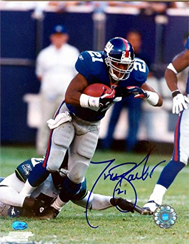 Tiki Barber autographed photo (New York Giants Teams All Time Leading Rusher) size 8x10 image #8 ()