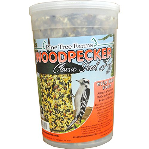 Pine Tree 8001 Woodpecker Classic Seed Log, 36-Ounce - Cardinal Wood Feeder