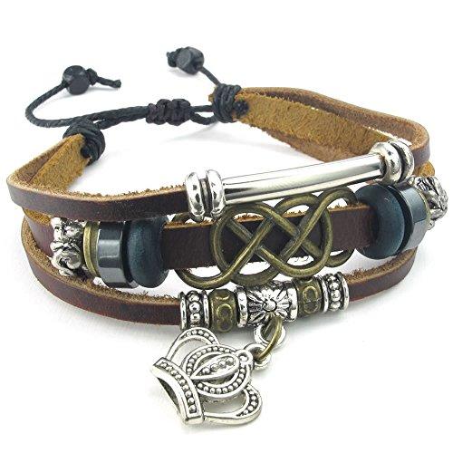 KONOV Leather Bracelet Braided Ireland