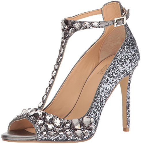 Jewel Badgley Mischka Women's Conroy Dress Sandal, Smoke, 7.5 M US by Badgley Mischka