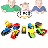 DMbaby Toys for Boys 3-6 Year Old, Mini Pull Back Vehicles 9 Pack Toys for 3-6 Year Old Boys 3-6 Year Old Boy Gifts DMUKPULL09