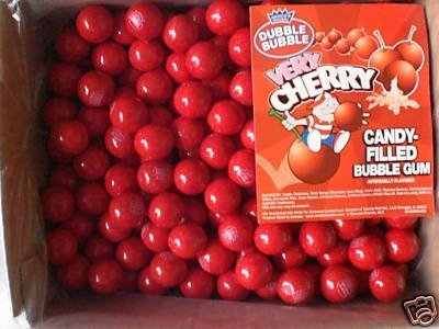 Dubble Bubble Very Cherry Filled Gumballs, 850-Count Bag by Dubble Bubble (Very Cherry Bubble)