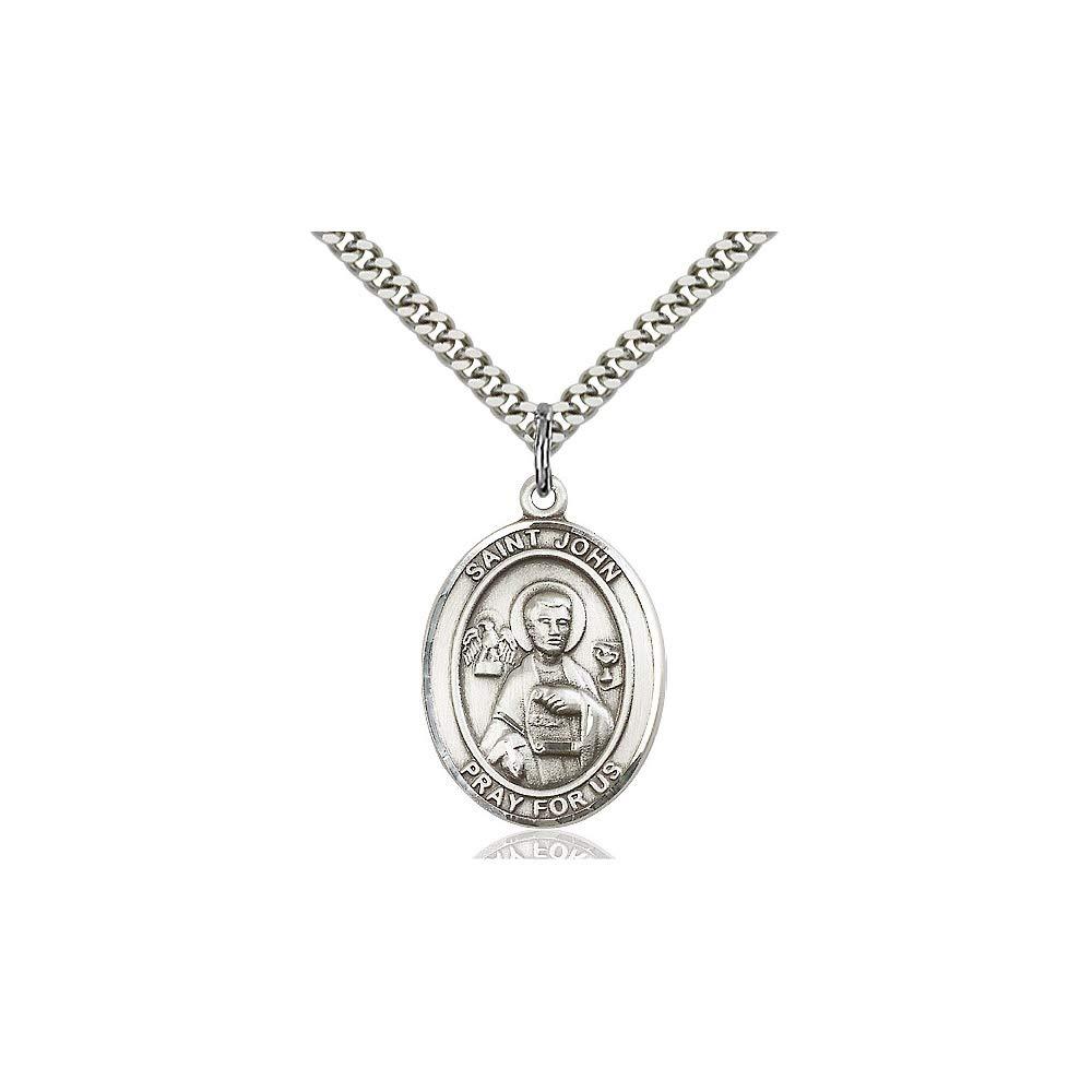 DiamondJewelryNY Sterling Silver St John The Apostle Pendant