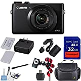 Canon PowerShot G7 X Digital Camera - Wi-Fi Enabled + 12pc Bundle - International Version