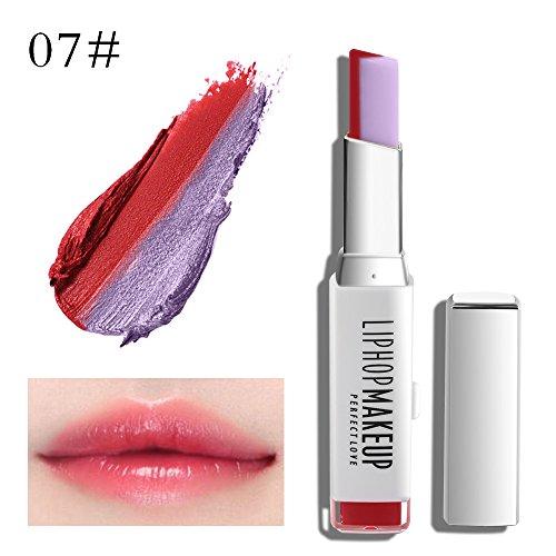 New Moisturizing Waterproof Long Lasting Lipgloss Duo Lip Balm Two Tone Lipstick Gradient Color ()