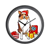 CafePress – Sheltie Holiday Wall Clock – Unique Decorative 10″ Wall Clock For Sale