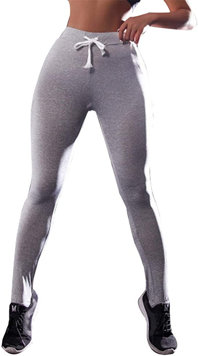 Amazon.com: Kirbyates Yoga Pants Women Elastic Leggings ...