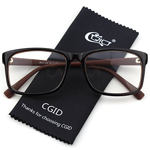 Happy Store CN12 Casual Fashion Basic Square Frame Clear Lens Eye GlassesBrown