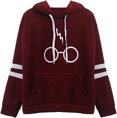 Mujeres Camisetas Manga Larga Varsity Gafas de Harry Potter ...