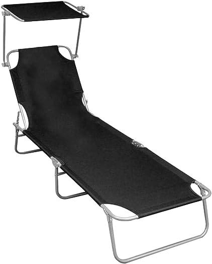 Unfade Memory Lounge Chaise Beach Chair Folding Sun Lounger