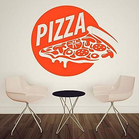 Etiqueta engomada de la pizza Etiqueta de la comida Cartel ...
