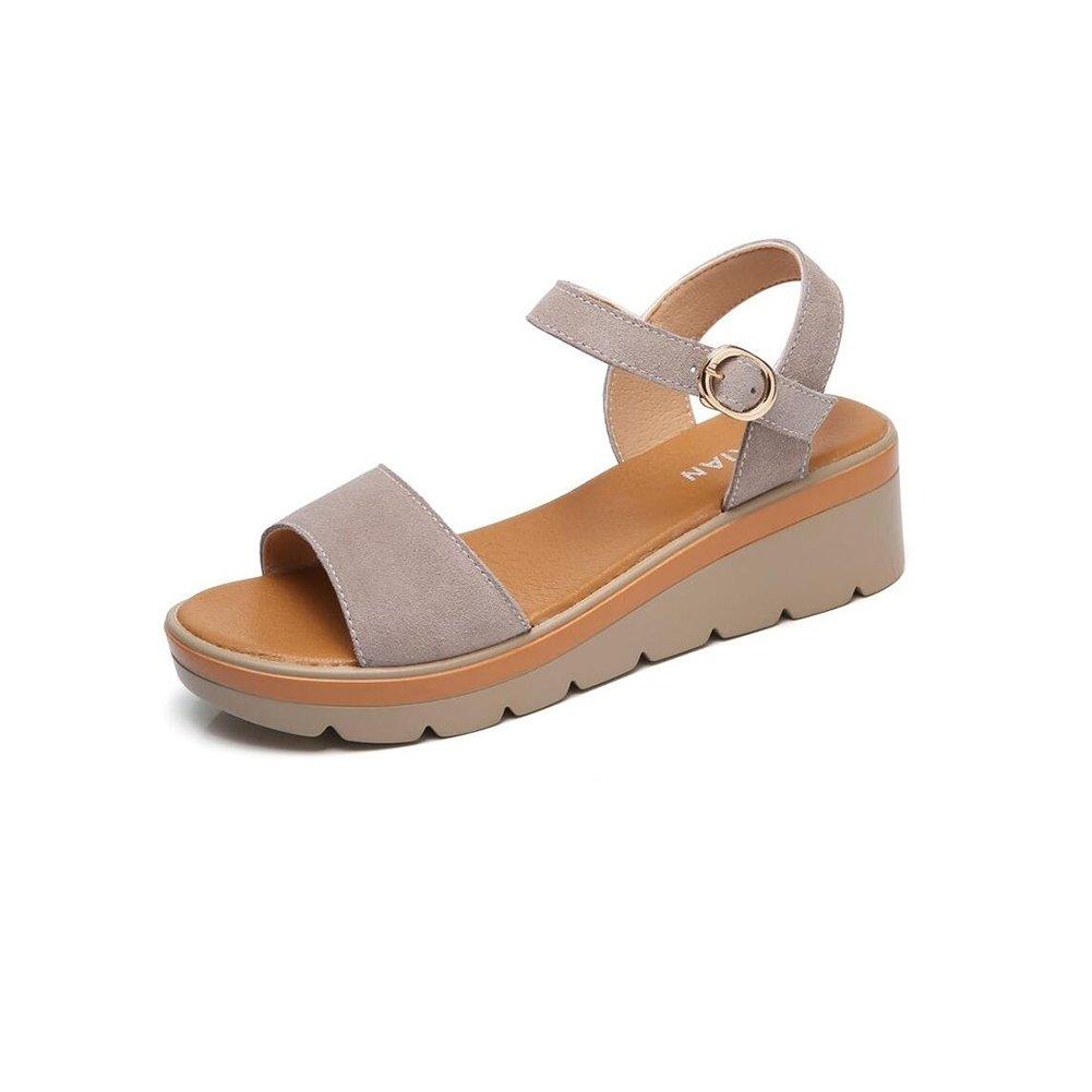 DALL Pumps Weich Und Atmungsaktiv Damenschuhe High Heels Hausschuhe Sandalen 6 cm Hoch (Farbe   Braun, größe   EU 35 UK 3.5 CN 35)