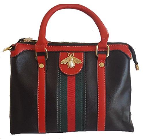 RXF Multi-Pocket Handbags for Men and Women Shoulder Messenger Bag Color : Brown, Size : S