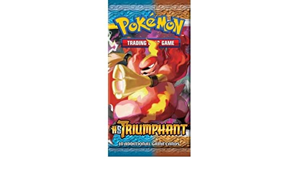 Pokemon Card Game Triumphant (HS4) Booster Pack [Toy ...