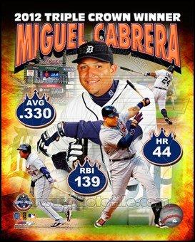Miguel Cabrera MLB Triple Crown Winner Composite Art Poster PRINT Unknown 8x10