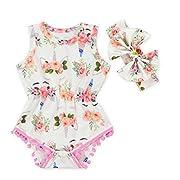 Anbaby Baby Girls Cute Romper Bodysuit Clothes (0-6Months, Unicorn Horn-1)