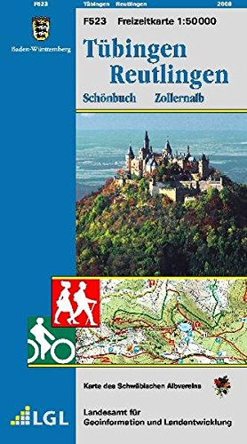 Tübingen, Reutlingen, Schönbuch, Zollernalb: Karte des Schwäbischen Albvereins  (Freizeitkarten 1:50000 / Mit Touristischen Informationen, Wander- und Radwanderungen)
