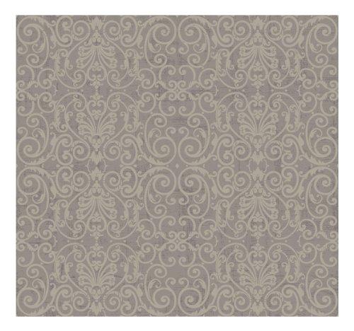 York Wallcoverings PK2620SMP Proper English Tuscan Leaf Scroll 8 x 10 Wallpaper Memo Sample