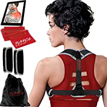 Posture Corrector for Women and Men - The Dusroc Clavicle Shoulder Support Brace and Back Straightener Kit Will Help to fix Bad Posture & Eliminate Upper Back/Thoracic Neck Pain.