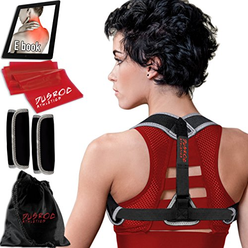 Posture Corrector for Women and Men - The Dusroc Clavicle Shoulder Support Brace and Back Straightener Kit Will Help to fix Bad Posture & Eliminate Upper Back/Thoracic Neck Pain. by Dusroc Athletics