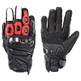 QARYYQ Gloves All Refer to Anti-Fall Summer Men and Women Locomotive Off-Road Racing Riding Carbon Fiber Gloves Gloves (Color : Red, Size : M)